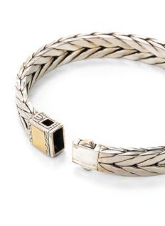 John Hardy Gold silver weave effect link chain bracelet