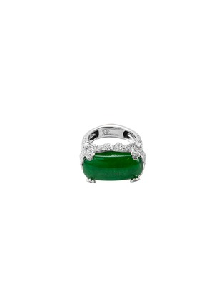 Main View - Click To Enlarge - SAMUEL KUNG - Diamond sapphire jade 18k white gold ring