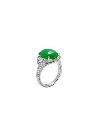 Figure View - Click To Enlarge - SAMUEL KUNG - Diamond jade 18k white gold ring