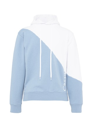 Main View - Click To Enlarge - Vetements - National anthem print colourblock unisex hoodie