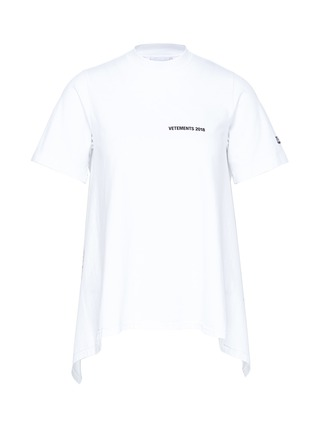 Main View - Click To Enlarge - Vetements - Calendar print tie open back T-shirt