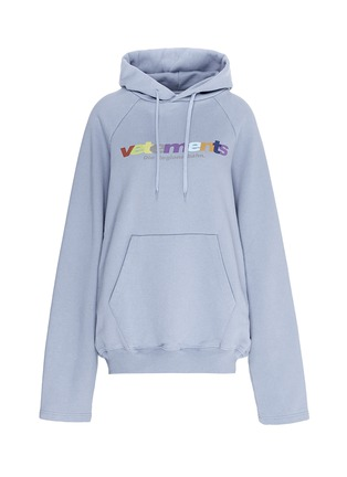 Main View - Click To Enlarge - Vetements - Logo print oversized hoodie
