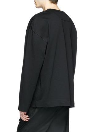 Back View - Click To Enlarge - Juun.J - Slogan photographic print sweatshirt