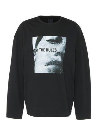 Main View - Click To Enlarge - Juun.J - Slogan photographic print sweatshirt