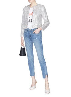 alice + olivia 'Kidman' sequin boxy jacket