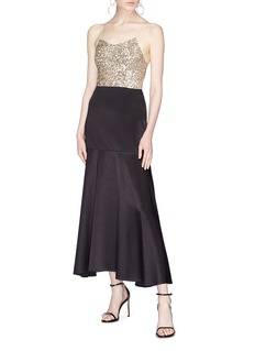 alice + olivia 'Archer' sequin cropped camisole top