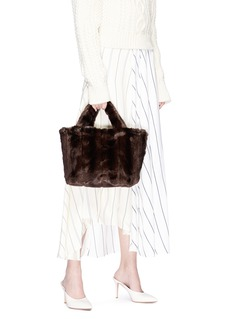 STAUD 'Deneuve' faux fur tote