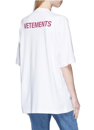 Back View - Click To Enlarge - Vetements - 'Staff' unisex print T-shirt