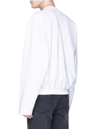 Back View - Click To Enlarge - Vetements - Logo embroidered long sleeve T-shirt