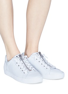 Ash 'Nirvana' star patch leather zip sneakers