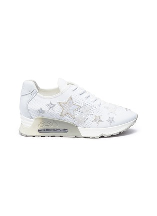 Main View - Click To Enlarge - Ash - 'Lucky Star' appliqué mixed knit sneakers
