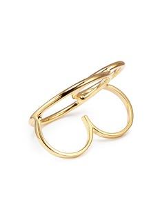 Joomi Lim 'Mix Master' interlocking hoop two finger ring