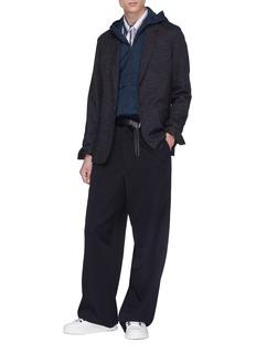 Lanvin Stripe wool-cotton melton jacket