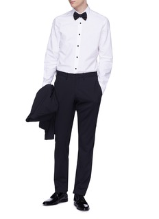 Lanvin Contrast button stripe tuxedo shirt