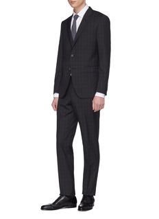 Lanvin 'Attitude' tartan plaid wool suit
