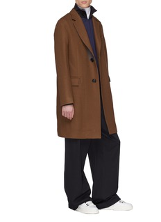 Lanvin Contrast panel wool melton coat