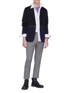 Lanvin Patchwork wool blend jacket