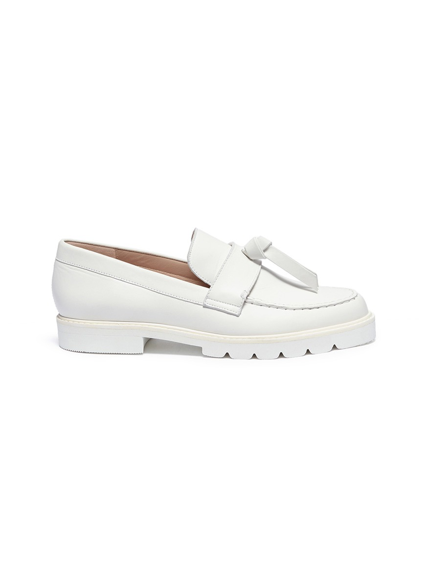 Tassel knot leather loafers by Stuart Weitzman