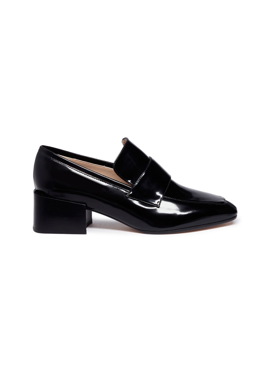 Sawyer patent leather loafer pumps by Stuart Weitzman