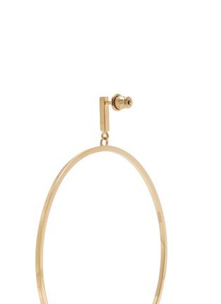 Detail View - Click To Enlarge - Chloé - 'Darcey' Swarovski pearl hoop earrings