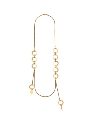 Main View - Click To Enlarge - Chloé - 'Quinn' ring charm link necklace