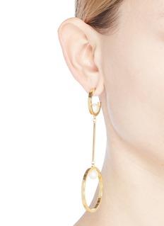 Chloé 'Darcey Dangling' Swarovski pearl link hoop earrings