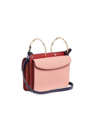 Detail View - Click To Enlarge - Danse Lente - 'Mia' spiral ring leather crossbody bag