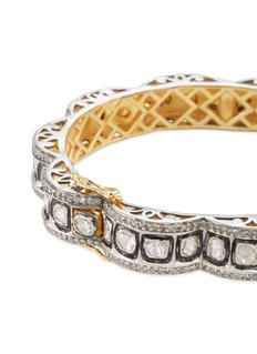 Aishwarya Diamond gold alloy silver scalloped bangle