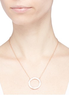 CZ by Kenneth Jay Lane Cubic zirconia cutout circle necklace