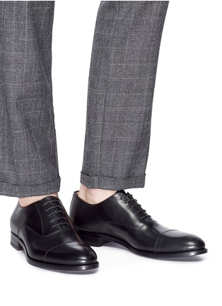Figure View - Click To Enlarge - ANTONIO MAURIZI - Camel leather Oxfords