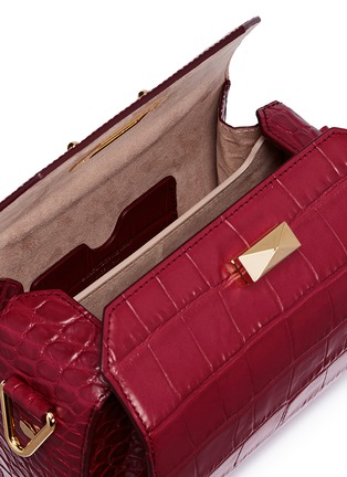 Detail View - Click To Enlarge - Alexander McQueen - 'Box Bag 19' in croc embossed leather