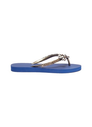 Main View - Click To Enlarge - UZURII - 'Goldy Fly' embellished thong sandals