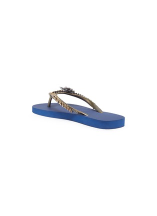 Figure View - Click To Enlarge - UZURII - 'Goldy Fly' embellished thong sandals