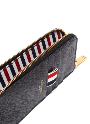 Detail View - Click To Enlarge - THOM BROWNE - Pebble grain leather zip around wallet
