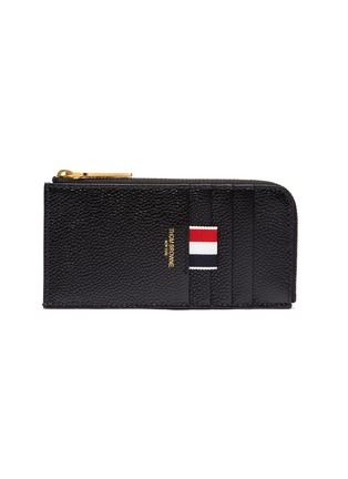 Main View - Click To Enlarge - THOM BROWNE - Pebble grain leather zip around wallet