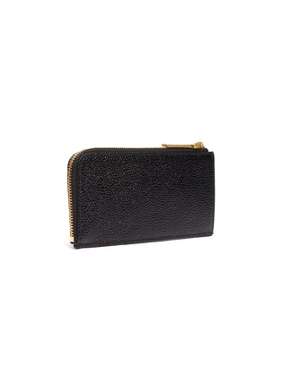 Figure View - Click To Enlarge - THOM BROWNE - Pebble grain leather zip around wallet