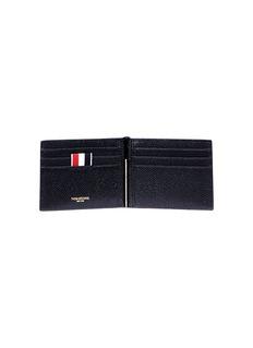 Thom Browne Pebble grain leather clip wallet