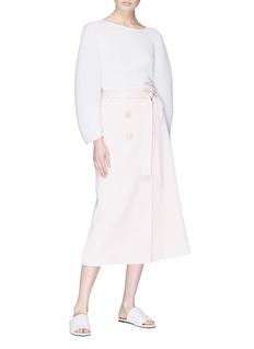 Christopher Esber Belted button wrap skirt