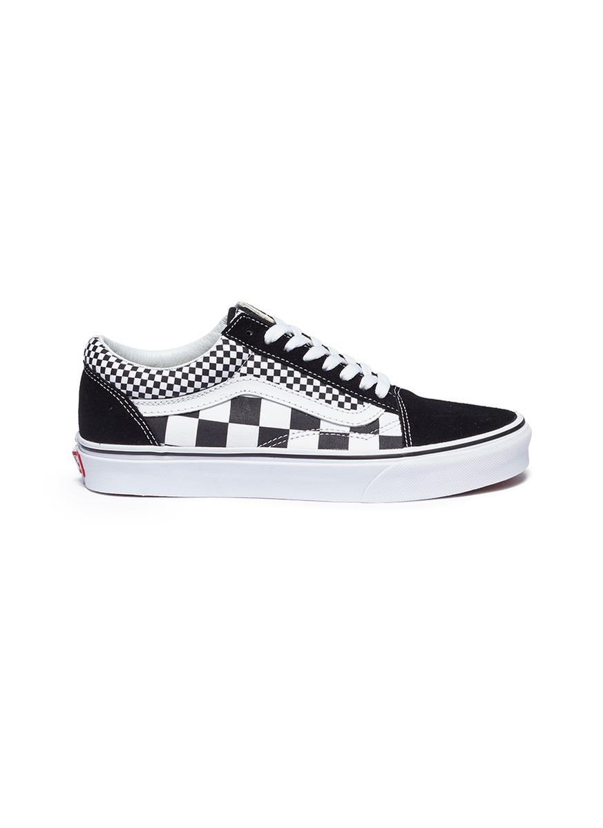 Old Skool checkerboard canvas unisex flatform sneakers by Vans