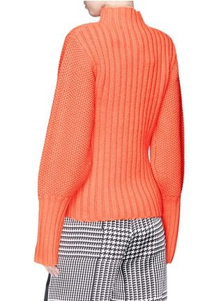Back View - Click To Enlarge - VICTORIA, VICTORIA BECKHAM - Lambswool mix knit turtleneck sweater