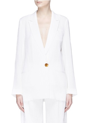 Main View - Click To Enlarge - VICTORIA, VICTORIA BECKHAM - Single breasted seersucker blazer