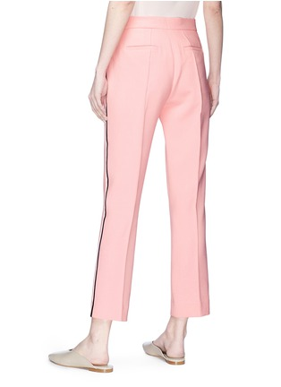 Back View - Click To Enlarge - VICTORIA, VICTORIA BECKHAM - Stripe outseam cropped pants