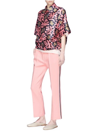 Figure View - Click To Enlarge - VICTORIA, VICTORIA BECKHAM - Stripe outseam cropped pants