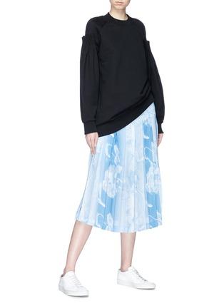 Figure View - Click To Enlarge - VICTORIA, VICTORIA BECKHAM - Cartridge pleated sleeve sweatshirt