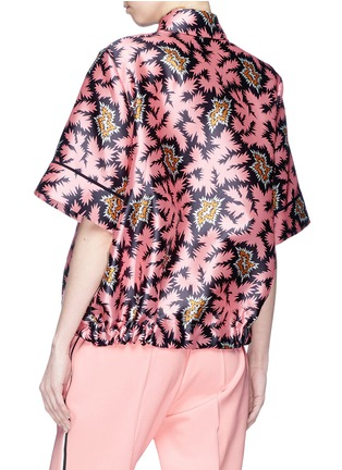 Back View - Click To Enlarge - VICTORIA, VICTORIA BECKHAM - Graphic print sateen T-shirt