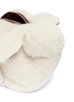 Detail View - Click To Enlarge - LOEWE - 'Bunny' mini shearling bag