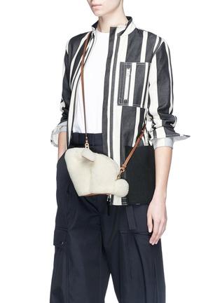 Figure View - Click To Enlarge - LOEWE - 'Bunny' mini shearling bag