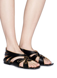 Aalto Braided cutout leather sandals