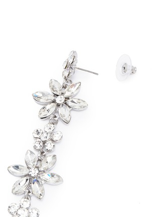 Detail View - Click To Enlarge - Kenneth Jay Lane - Glass crystal floral drop earrings