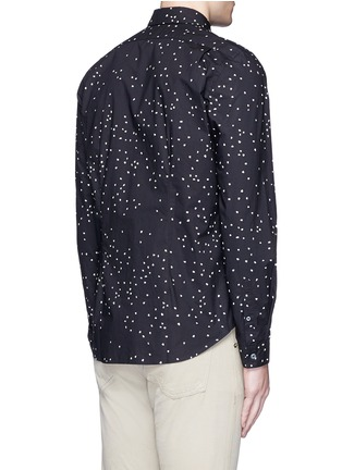 Back View - Click To Enlarge - PS Paul Smith - Micro heart print cotton shirt